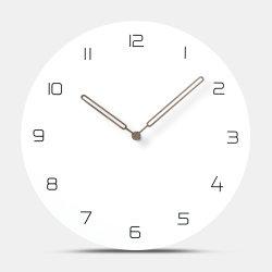 Non en cochant la pendaison européenne MDF horloges murales salle au décor simple de bureau Accueil concis