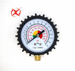 Calibrador de neumáticos de 50 mm la parte inferior de aire entrar Manómetro de presión