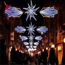 Motivo de Natal no exterior da estrutura de alumínio leve Star em toda Street