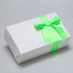 Freies Beispielfertigung-Lieferanten-Grün-Satin-Farbband-grosser Farbband-Bogen für Geschenk-Kasten-gewebtes Material