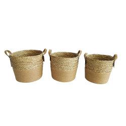 Постельное белье веревки и морских водорослей комбинации корзина для хранения