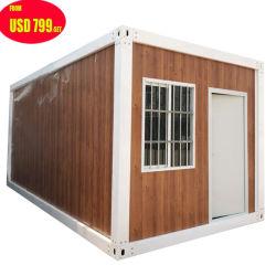 Construções prefabricadas móvel portátil pequeno desdobrável Prefab móveis modulares de Aço de luxo de madeira/contêiner de armazenamento de madeira Villa construir casas casa à venda