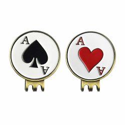 Индивидуальные металлические Gold Silver Никелевое покрытие мягкой эмали окрашенная латунные цинкового сплава поле для гольфа Poker Chip винты с Red Hat Clip с мяч для гольфа маркера подарочные наборы принадлежностей (017)