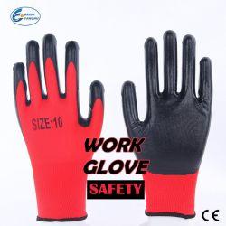 Nylon Duurzame Handschoenen, Handschoen van het Werk van de Veiligheid van het Huishouden de Beschermende Nitril Met een laag bedekte