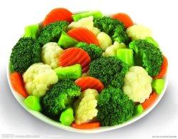 Misturas de produtos hortícolas congelados batata, feijão verde, brócolos