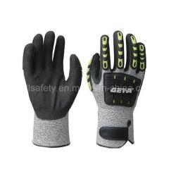 TPRの反影響によって切られる抵抗力がある作業手袋