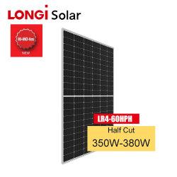 تعمل الوحدة الشمسية للونجي PERC بنصف الخلايا الشمسية على نظام مزدوج تعمل بالطاقة الشمسية الزجاجية لوحات الطاقة بقدرة 360 واط بقوة 365 واط و370 واط ولوحة Bifergy Solar بقوة 380 واط