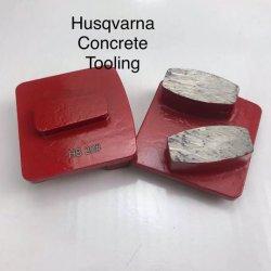 Husqvarna Redi Diamond meulage segment de verrouillage de Metal des plaques de plancher Tampon de Dépolissage de diamants pour le béton