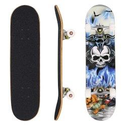 31 pulgadas de madera Complete Longboard Skate Skate Board doble patada