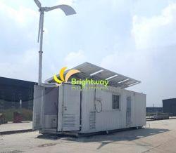 2kw personnalisé le vent solaire hybride de génération de système d'alimentation de gazole à usage domestique de stockage de la batterie