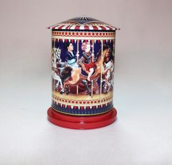 Boîte de stockage de musique de Noël Cadeau Tin Tin Box