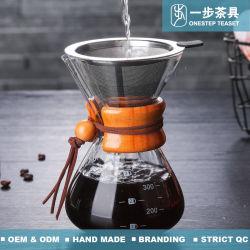 POT termoresistente del caffè di vetro di Borosilicate di alta qualità