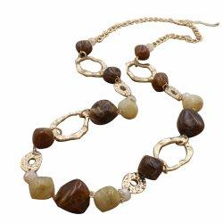Produto de tendências de jóias de ouro Cordão Marrom Colar