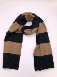 Listrado em acrílico para homens de malha de poliéster algodão lenço quente de Inverno