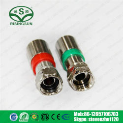 Resistente al agua conector coaxial tipo F de compresión el conector RG6