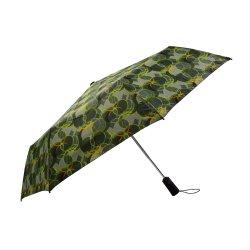 고품질 인쇄물로 3섹션 자동 열기 및 닫기 우산