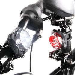 USBの再充電可能な自転車ライトLEDバイクのアクセサリの軽いヘルメットライト