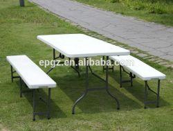 Banc de la table de plein air à la mode, Mobilier de jardin, table à manger en gradins pour Garden Party de banquet
