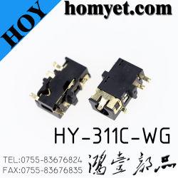 Alta qualidade de áudio estéreo de 3,5 mm para montagem de PC para tomada de telefone