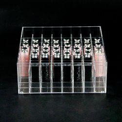 Contenitore organizzatore in lipstick con scomparto in acrilico trasparente all'ingrosso personalizzato