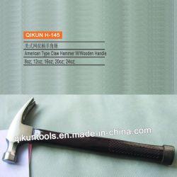 H-145 строительного оборудования ручных инструментов американского типа прямой выступе молотком с лазерной печати Деревянные рукоятки