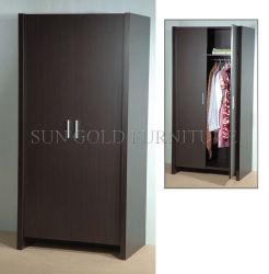 (SZ-WD003) Tür-Garderobe der preiswerte Walnuss-hölzerne eingehängte 2 Tür-zwei