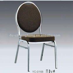 Parte posteriore rotonda del metallo lucido che pranza la mobilia della ganascia (YC-ZG54)