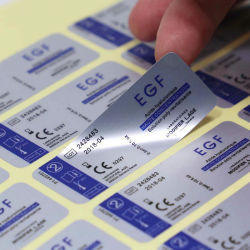 カスタム印刷の取り外し可能な銀製の電子デバイスのラベルのステッカー