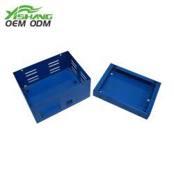 Personnalisé bleu métal case Flip boîtier en acier
