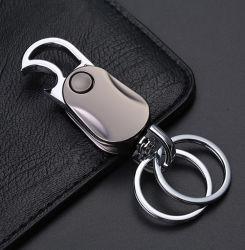 Schlüsselring-Schlüsselketten-Flaschen-Öffner, Hochleistungsauto-Schlüsselkette mit Edelstahl Keychain Kabel und Schlüsselringe für Mann-Frauen Esg12937