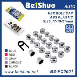 Dekking 19mm van de Kappen van de Hexuitdraai van de Noot van de Bout van het Handvat van het Wiel van de Rook van de auto 20PCS Plastic
