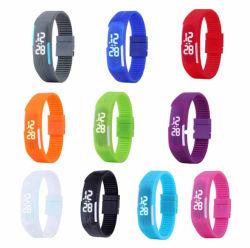 El deporte de silicona al por mayor Reloj digital LED Flash Wtist-1244 (CC)