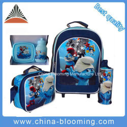 Polyester chariot roulant sac à dos Papeterie scolaire Gift Set