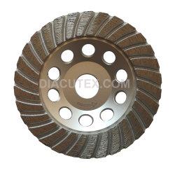 wiel van de Kop van de Rand van 125mm het Turbo voor Beton