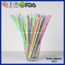 多彩で使い捨て可能で適用範囲が広いジュースのプラスチック飲むわら