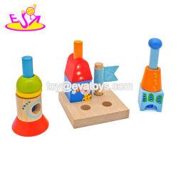 Ciudad creativa educativo apilar bloques de madera para niños W13A152