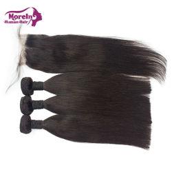 Matières Indian sèche directement à partir de l'Inde Remy vierge 100 droites Cheveux humains de l'Armure cuticule alignés Cheveux bruts