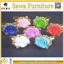 Corte láser Manufacter madera regalo de boda anillo de servilleta