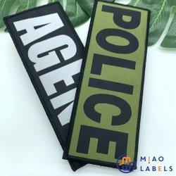 Guangzhou Factory Price Professional Custom Hochwertige Flache Gewebte Patches & Abzeichen mit Klettverschluss