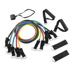 Latex-Widerstand des Ustomized Eignung-Übungs-Gefäß-11 PCS/Set versieht Trainings-Yoga-Gefäße mit Carabiner Zugseil mit einem Band