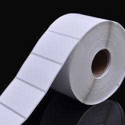 Autoadesivo adesivo in bianco del contrassegno del vinile dell'animale domestico del PE BOPP del documento di rullo pp per la zebra