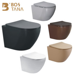 Marcação Sanitária penduradas na parede Ceramic dois pedaço de banho WC P-Trap para Adulto