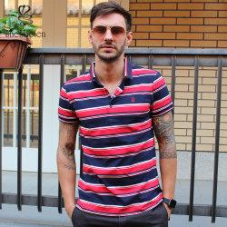 أزياء للبيع الساخنة الرجال T-Shirts مخصص الصيف ستريب القطن بولو قمصان