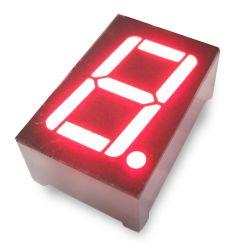 سطوع عالٍ، شاشة LED رقمية أحادية الرقم 2.3 بوصة 7 مقاطع، عالية السطوع للعرض في الأماكن المغلقة