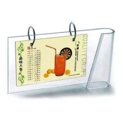 Calendario de escritorio de acrílico con Logo (calendario).