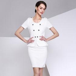 2016 Dernier costume blanc jupe personnalisées pour les femmes