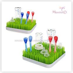 플라스틱 둥글거나 정연한 싱크대 아기 젖병 잔디밭 잔디 건조용 선반