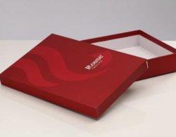 Aangepaste het rood drukte het Met de hand gemaakte Vakje van de Schoenen van het Vakje van het Vakje van de Gift van het Document van Juwelen Kosmetische voor Verpakking af