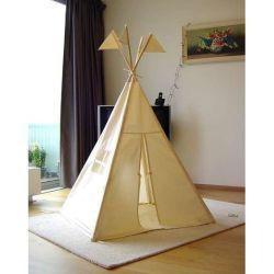 De houten Tent van het Spel van het Theater van de Jonge geitjes van &Outdoor van Pool Binnen