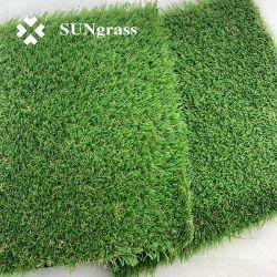 C-Form 20mm Gras-Garten-Gras des künstlichen Gras-4-Tones synthetisches für Hauptdekoration